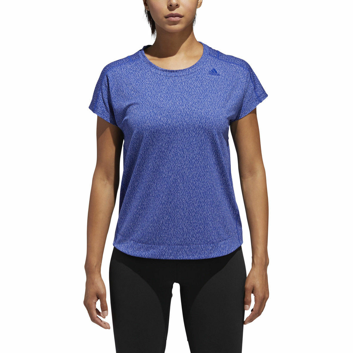 ADIDAS Climalite CZ3121 Jacquard TEE Shirt TOP Real Mystery bluee ( M )