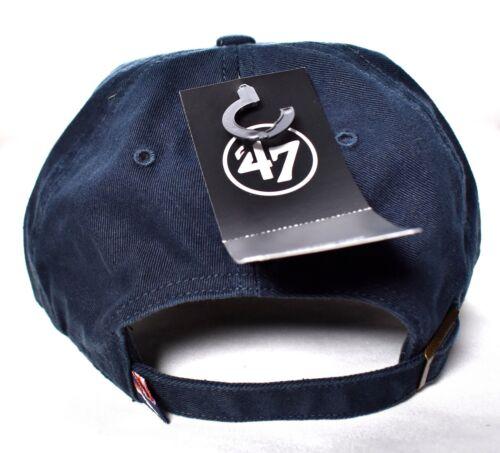 3 of 7 DENVER BRONCOS  47 Brand Clean Up Hat Cap Adjustable NFL Navy Forty  Seven   33f088d4c