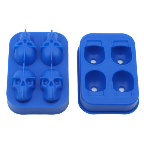 3D Skull Shape Silicone Ice Cube Trays Mold Mould Cocktails y Maker Z