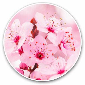 2-x-Vinyl-Stickers-7-5cm-Sakura-Cherry-Blossom-Flower-Cool-Gift-2626