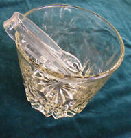 Princess House Crystal 'Heritage' Pattern Ice Bucket with Tongs