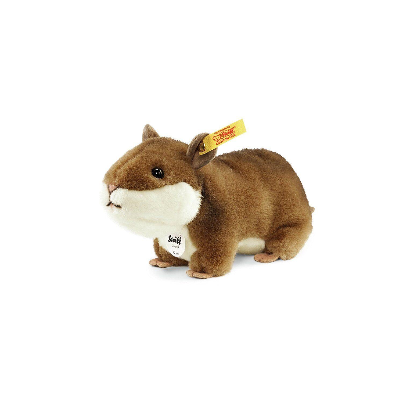 STEIFF®  071836  Goldy Hamster 17cm, braun/weiß NEU unbespielt RARITÄT