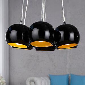 h ngeleuchte black pearls schwarz gold pendelleuchte h ngelampe lampe 70er retro ebay. Black Bedroom Furniture Sets. Home Design Ideas