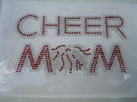 Rhinestone Cheer Mom Iron On Transfer Color Red,royal Blue,gold,green
