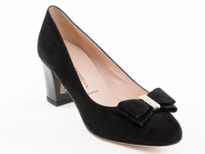 economico e di alta qualità New Donna Serena nero Suede Leather Made in in in  scarpe Dimensione 40 US 10  acquista la qualità autentica al 100%