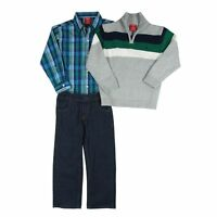 Izod 3-piece Set Includes: Sweater, Shirt & Jeans- Size 7 Boys