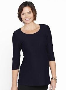 376f2909c30 Image is loading Maternity-Fitted-Self-Stripe-Half-Sleeve-Work-Top-