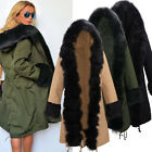 Women Parka Thick Outerwear Military Hooded Coat Winter Jacket Fashion Fur Coat