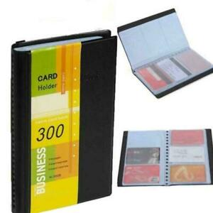 Professional-Business-Card-Holder-Organizer-300-Name-Card-ID-Book-Keeper-Cr-O0D3