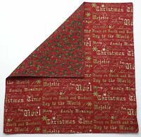 Great Finds Christmas Carolers Reversible Cotton Napkins Set Of Two (2)