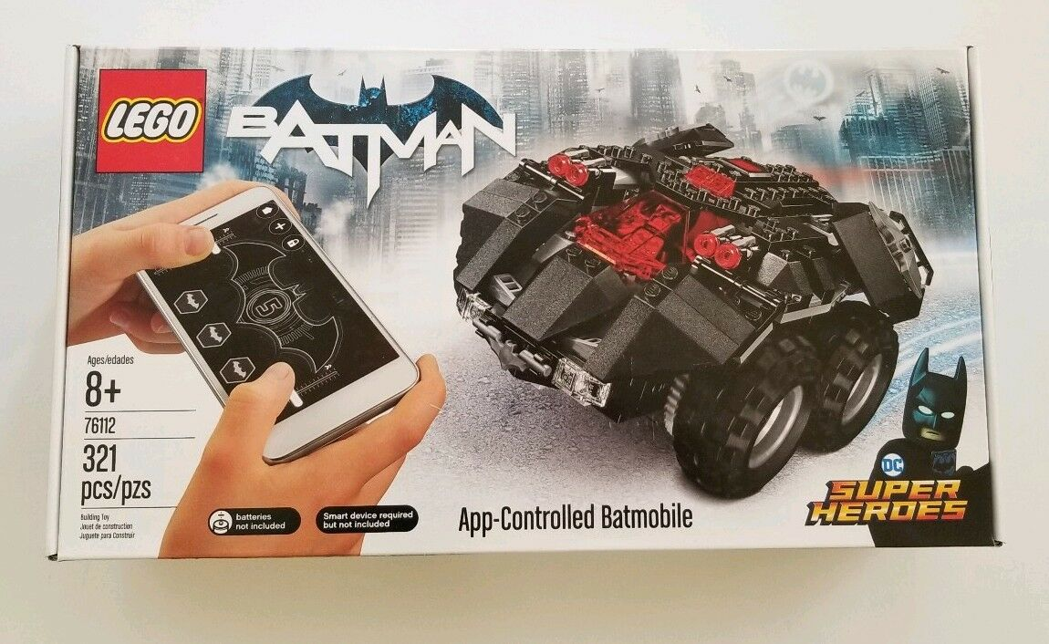 New Lego Set 76112 Batman DC Super Heroes App Controlled Batmobile Sealed NISB