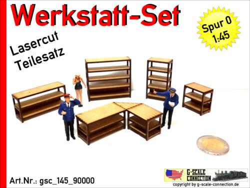 Traccia 0 Officina Set-fabbrica panche & scaffali LASERCUT - - 1:45 - gsc_145_90000