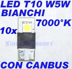 Nr 10 Canbus SMD White LED 7000K T10 W5W Error Free 12V
