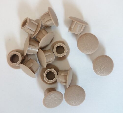 8mm Hole Caps Covers Push Fit Furniture Kitchen White Graphite Grey Brown Beige