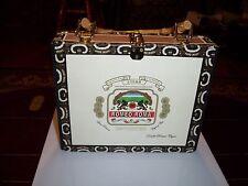 NEW! Romeo Roma Cigar Box Purse Handbag wood Bag Height 7.5 x 9-3/8 x 2-3/8