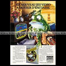 FROGGER Parker Brothers ATARI VCS 2600 Video Game 1982 : Pub Publicité Ad #A1311