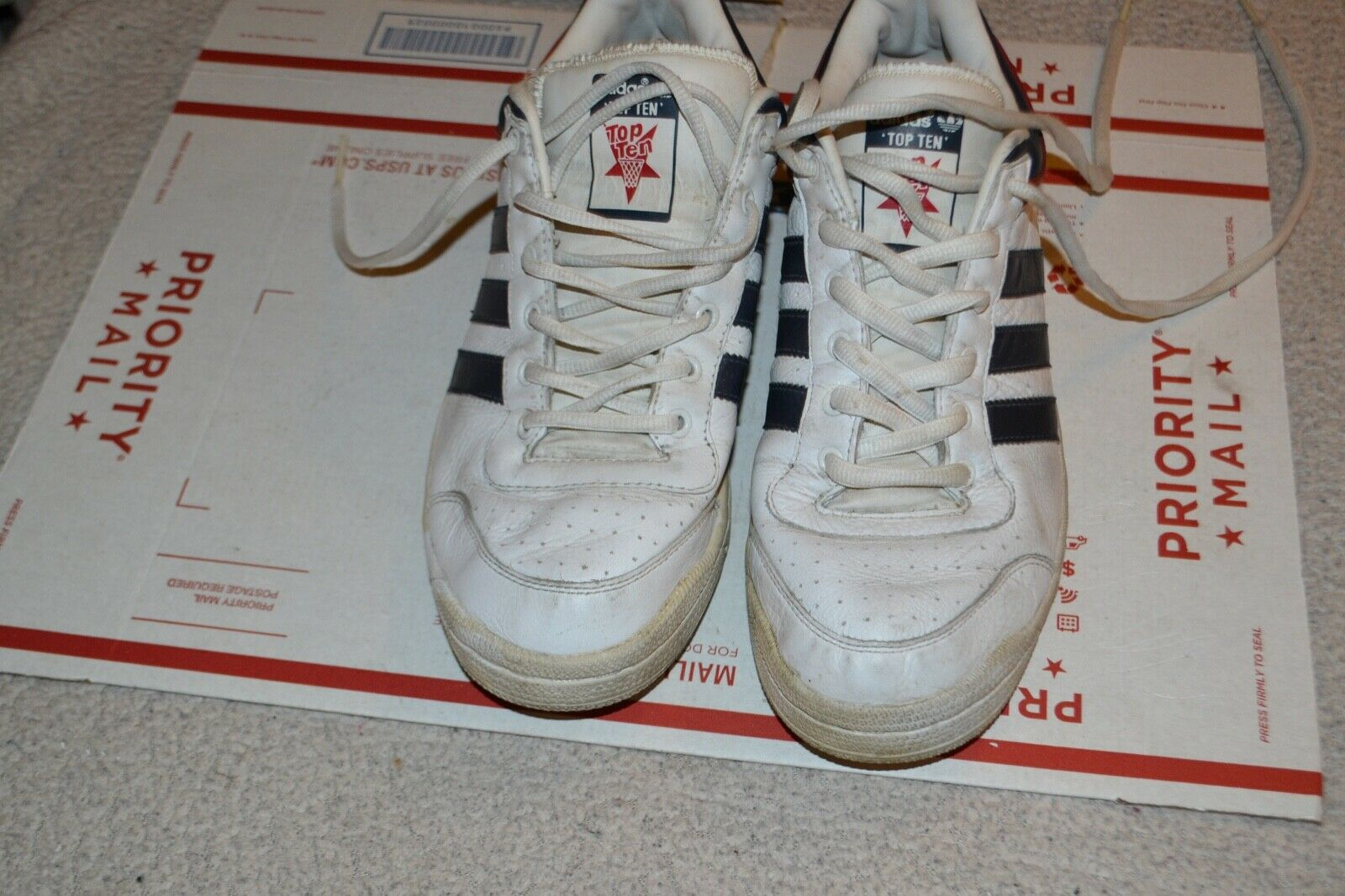 Adidas Originals Top Ten Retro Low  Red White bluee  Size 10.5