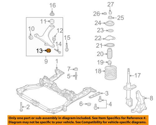 SUBARU OEM 03-16 Forester Steering Gear-Outer Tie Rod Castle Nut 023212010