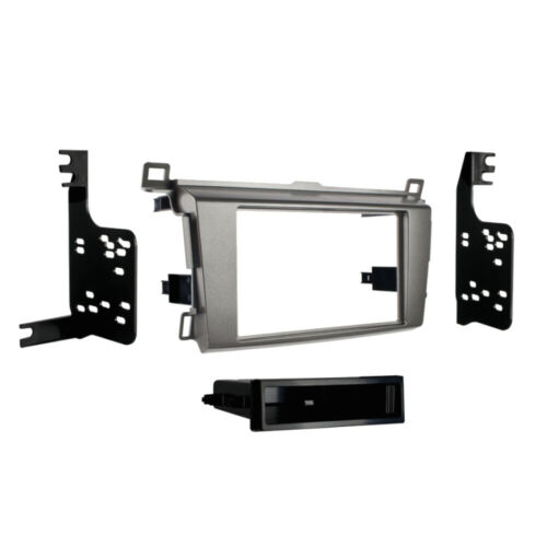 1DIN ISO Radioblende frame mounting kit for Toyota RAV4 RAV 4 from 2013 gray