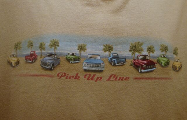 Old Classic Pick Up Trucks T-Shirt Tan Size 2XLarge Cotton George Tee