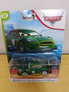 NUOVO Originale Disney NIGEL GEARSLEY CON Cars Flames Diecast metallo Auto Scala 1:55