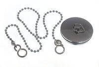 Basin Plug Chrome: 44mm 1 3/4 Inch & 450mm Chain - 200 Of Each