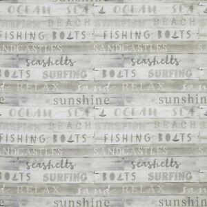 iLiv Surfboards Aqua Beach Curtain Upholstery Craft Designer Cotton Fabric