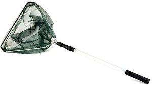 Teleskop kescher cm angel fisch alu nylon netz teichkescher