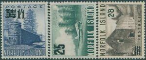 Norfolk-Island-1960-SG37-39-Scenes-surcharges-set-MNH
