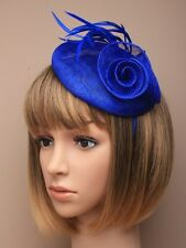 HATINATOR royal blue feather alice band WEDDING RACES HAIR 5504 fascinator