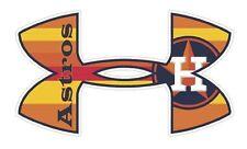 Houston Astros  Baseball Under Armour Truck/Window Decal Sticker - Set of 3