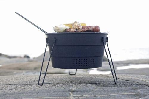 Pop Up parrilla Ø 28 cm outdoorgrill Teflon revestimiento parrilla camping plegable trans