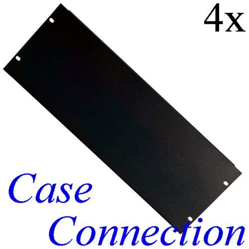 "Rackblende Stahl # 19/"" Blindplatte Frontplatte 19 Zoll gekantet 4x 4HE U"