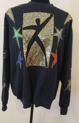 Vintage Beautiful RhinestonesChristmas Sweatshirt