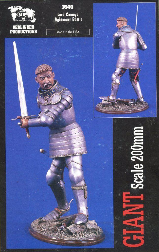 Verlinden 200mm Lord Camoys Agincourt Battle Resin Figure Kit