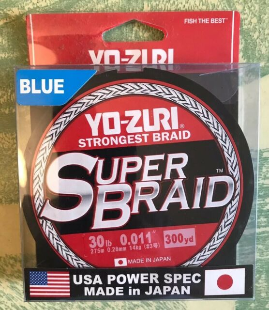 300 Yards Yo-zuri Super tresse bleu 65 lb environ 29.48 kg NEW