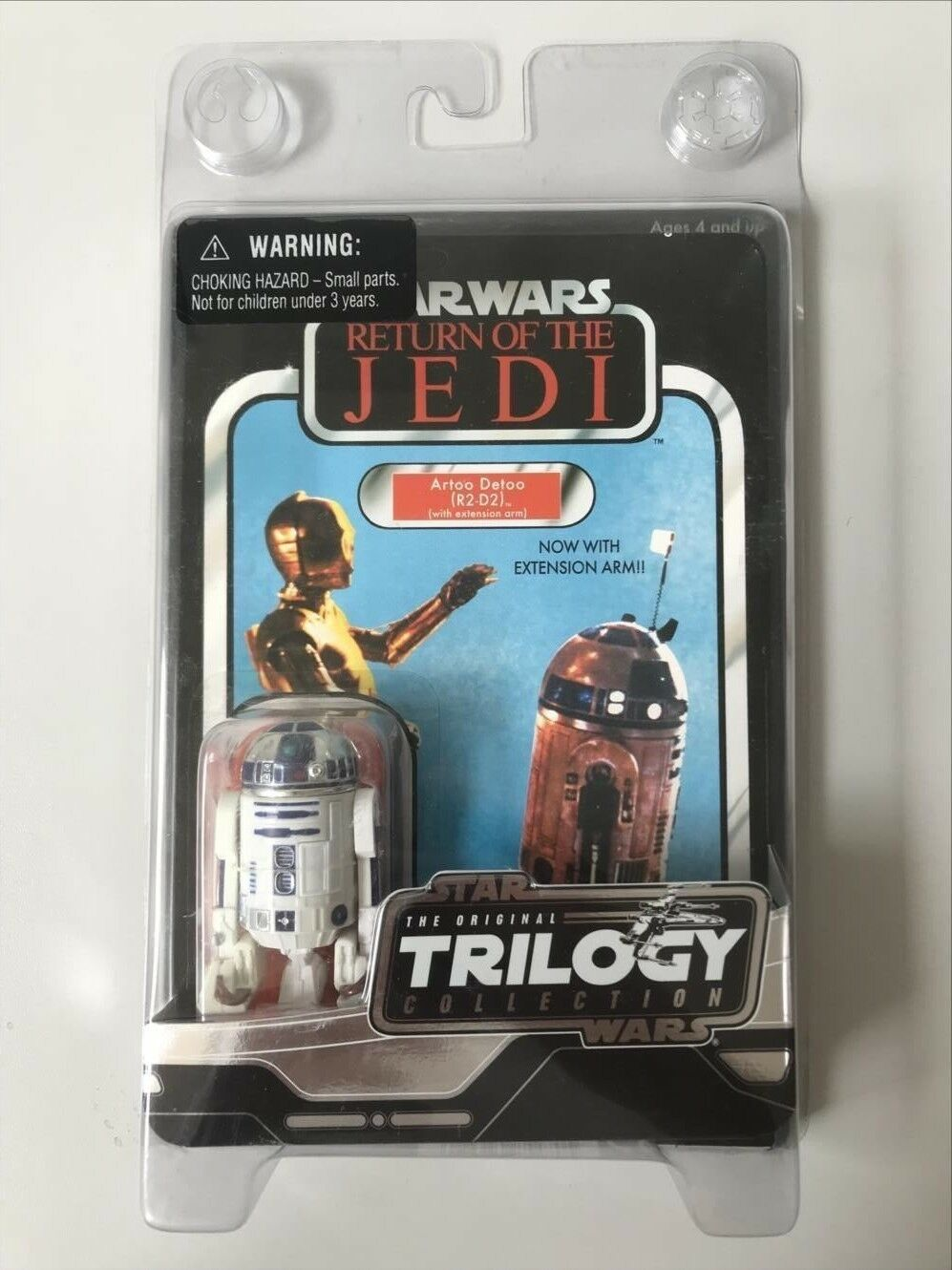 SIGILLATA FIGURA ACTION STAR WARS THE ORIGINAL COLLEZIONE TRILOGY R2-D2 JEDI