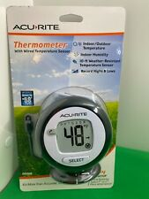 Acu Rite Digital Thermometer Wired 10 Ft Temperature Sensor Probe Amp Humidity New
