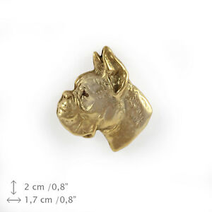 Boxer (head), gold covered pin, high qauality Art Dog CA - Zary, Polska - Boxer (head), gold covered pin, high qauality Art Dog CA - Zary, Polska