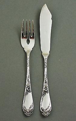 Temperamentvoll Koch & Bergfeld Fischbesteck 1 Von 6 Floral 800er Silber Jugendstil (17) Hell In Farbe