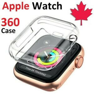 For Apple Watch 1 2 3 4 5 6 SE Case - 360 Clear TPU Cover With Screen Protector