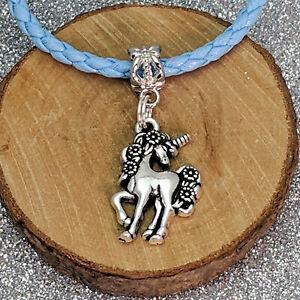 Antique-Silver-Tone-Unicorn-Charm-Beads-For-European-Bracelets