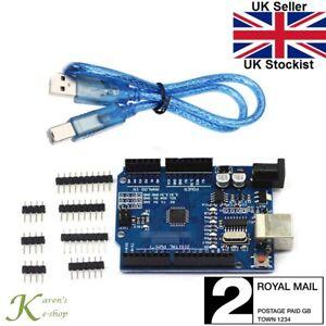 Arduino-Uno-R3-ATMega-328P-CH340G-Placa-De-Microcontrolador-Compatible-Con-Cable-Usb