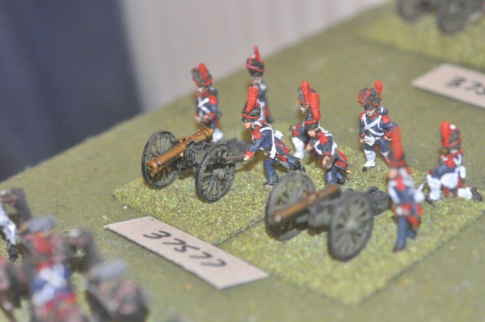 25mm napoleónicas francés-Guard 3 armas & tripulaciones-Art (37577)