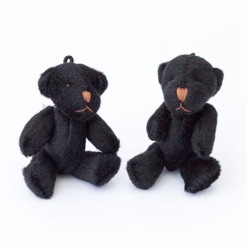 Neuf-teddy noir-petit mignonne doux-cadeau anniversaire noël