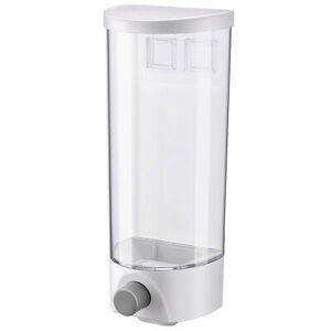 1//1.5L Cereal Dispenser Keep Dry Food Storage Container Wall-mounted Transparent