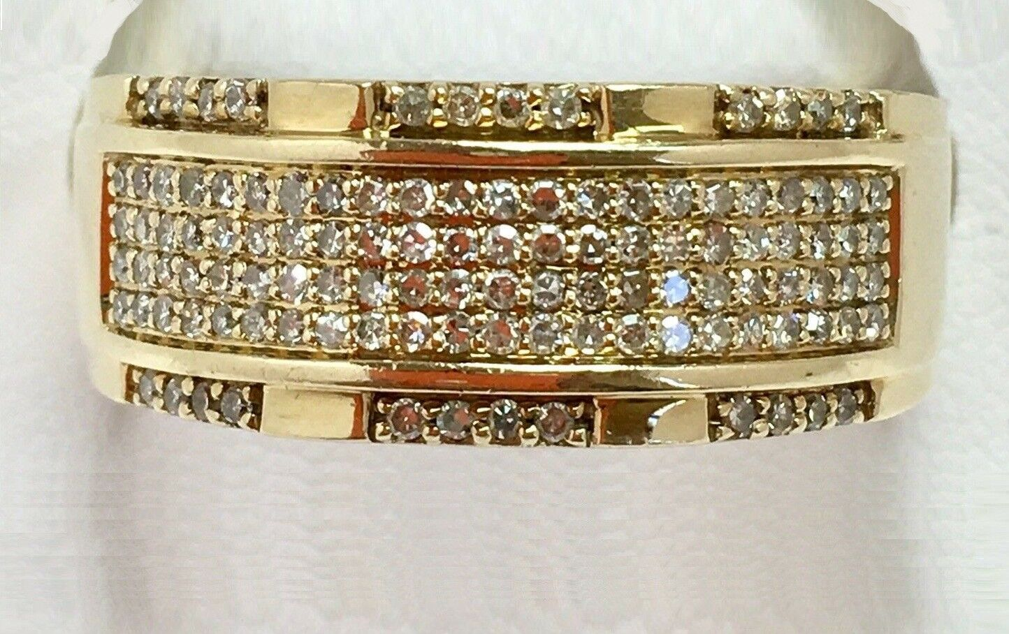 2.00 Ct Mens Diamond Wedding Band Engagement Pinky Ring 10K Yellow Gold Over