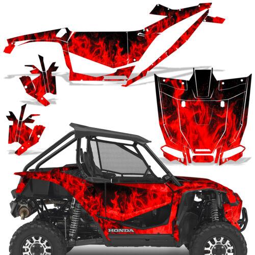 UTV Graphics kit Sticker Decal for Honda Talon 1000X 2019 Red Flames