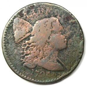 1794 Liberty Cap Large Cent 1C Coin - Fine Details (Corrosion) - Rare!