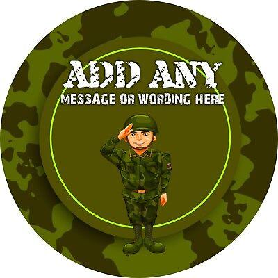 Competente Soldato Dell'esercito Adesivo Con Le Etichette Per Party Borsa Dolce Coni-mostra Il Titolo Originale